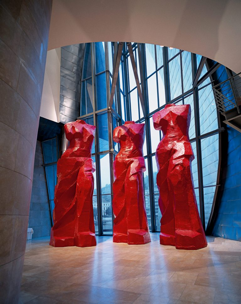 Three red spanish Venuses | Jim Dine | Guggenheim Bilbao Museoa