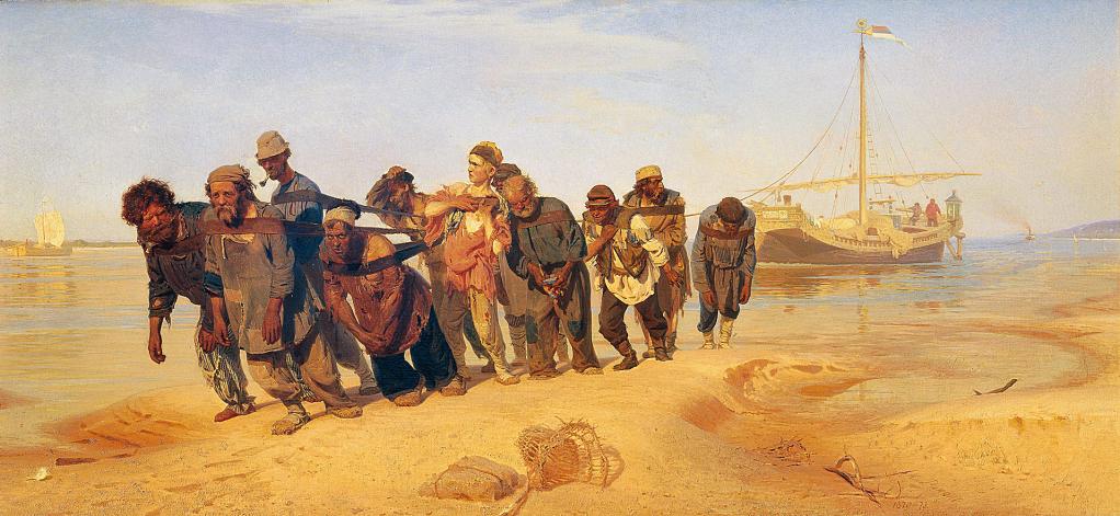 Sirgadores del Volga | Ilia Repin | Guggenheim Bilbao Museoa