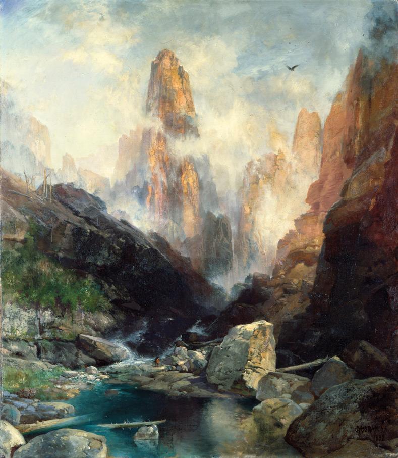 Lainoa Kanab arroilan, Utah | Thomas Moran | Guggenheim Bilbao Museoa