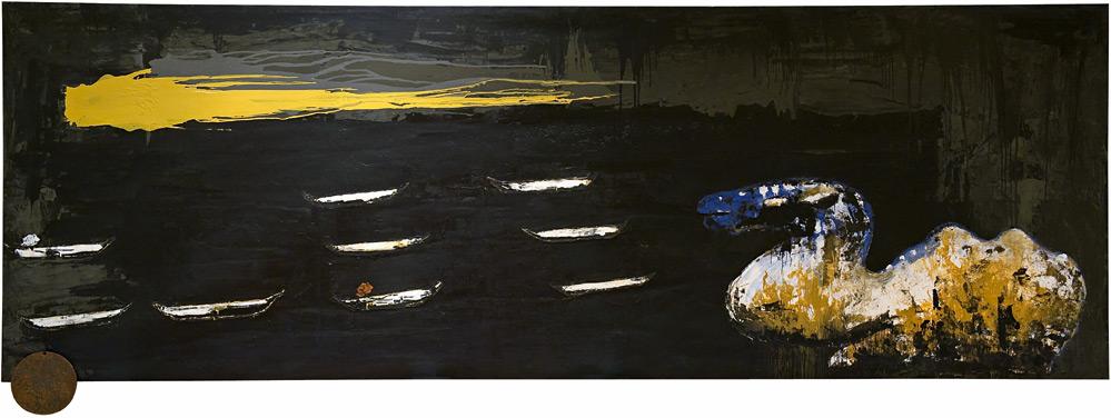 Mendebaldeko gordailua | Enzo Cucchi | Guggenheim Bilbao Museoa