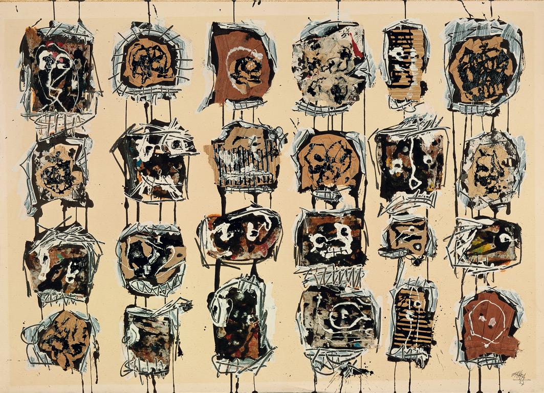 24 heads | Antonio Saura | Guggenheim Bilbao Museoa