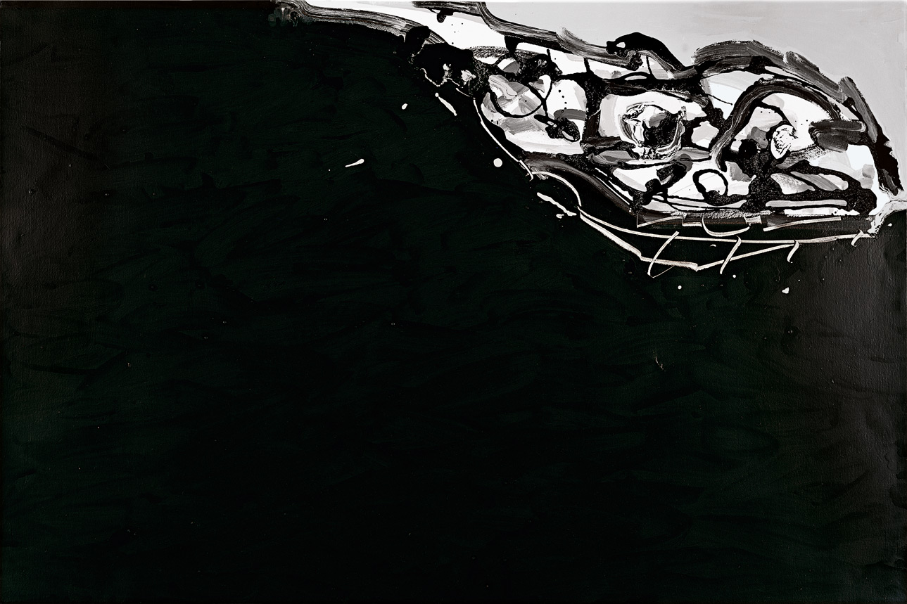 Imaginary portrait of Goya | Antonio Saura | Guggenheim Bilbao Museoa