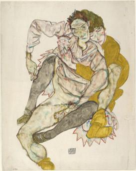Couple assis | Egon Schiele | Guggenheim Bilbao Museoa
