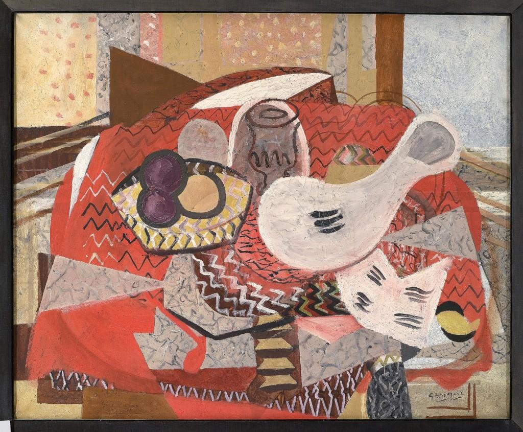 Naturaleza muerta con mantel rojo | Georges Braque | Guggenheim Bilbao Museoa