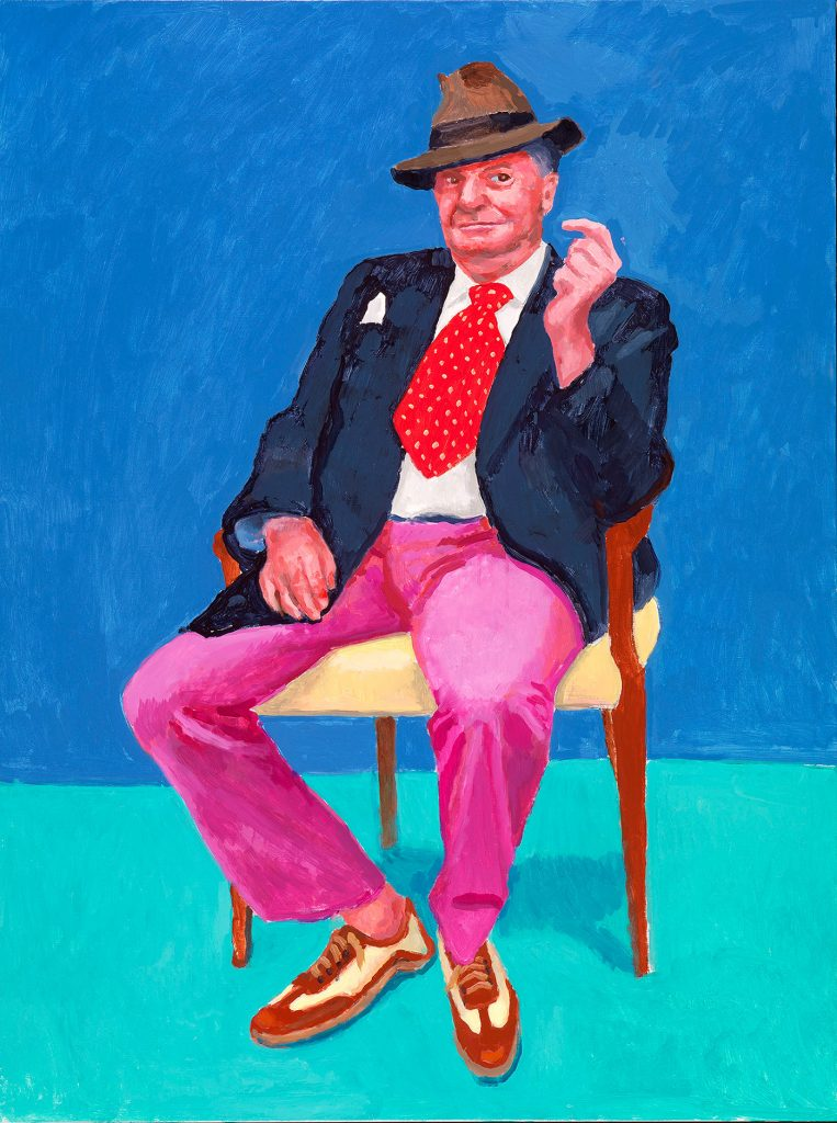 Barry Humphries, 26th, 27th, 28th March 2015 from 82 Portraits and 1 Still-life | David Hockney | Guggenheim Bilbao Museoa