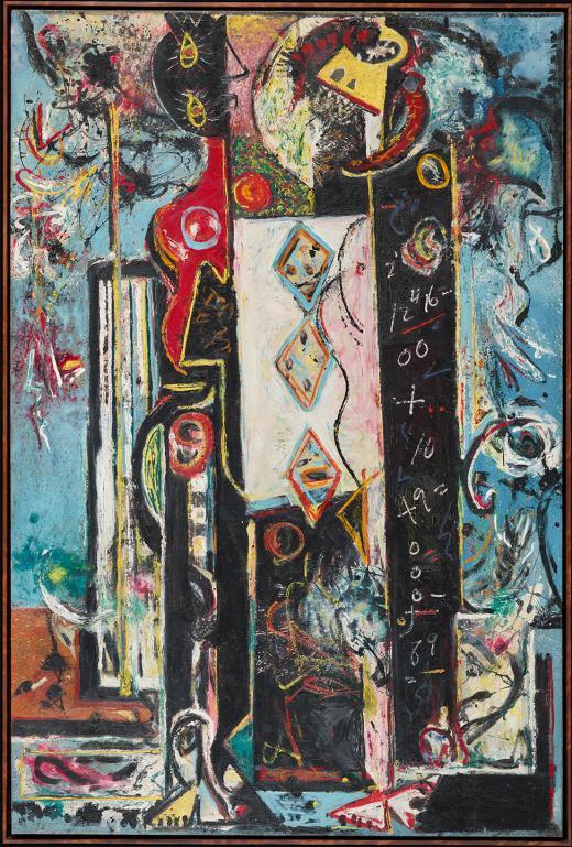 Jackson Pollock Male and Female