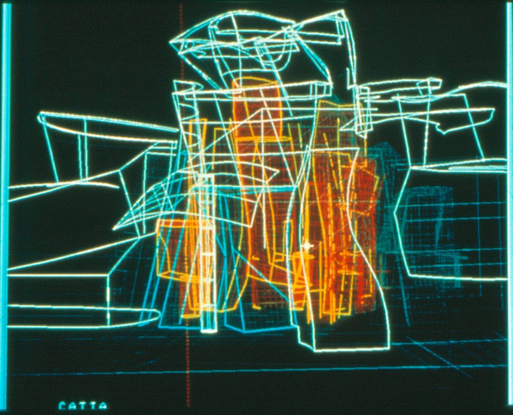 Building plan digital drawing of the Guggenheim Museum Bilbao, CATIA software | Frank Gehry |Guggenheim Bilbao Museoa