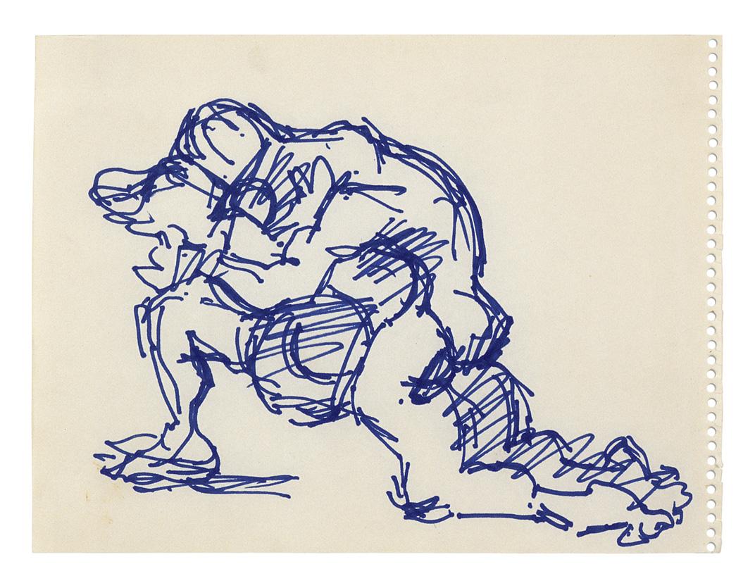 Estudio para Variación sobre el tema de El último abrazo (Salvataggio) III | Jacques Lipchitz | Guggenheim Bilbao Museoa