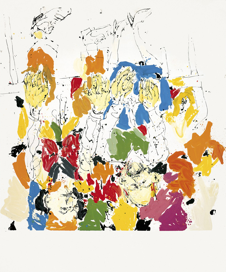 During the Veteran Summer two creepy uncles are scaring Mike | Georg Baselitz | Guggenheim Bilbao Museoa
