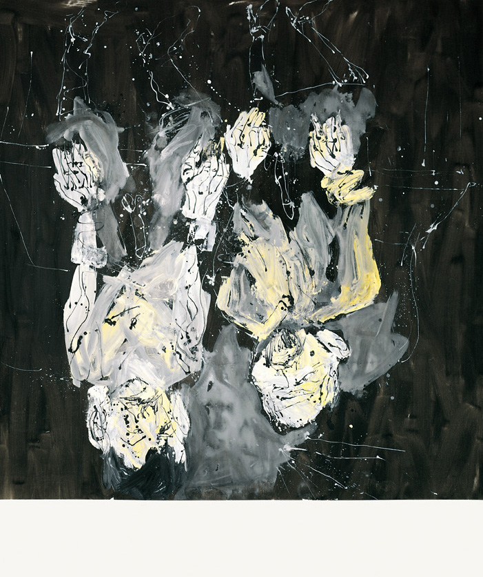 Marcel and Maurizio are kind of similar, one might assume, the pharmacy flies higher | Georg Baselitz | Guggenheim Bilbao Museoa