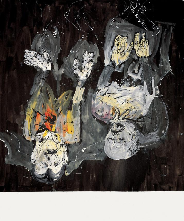Hari zuri baten moduko argitzea, Pragari buruzko Kiki-ren ametsa | Georg Baselitz | Guggenheim Bilbao Museoa