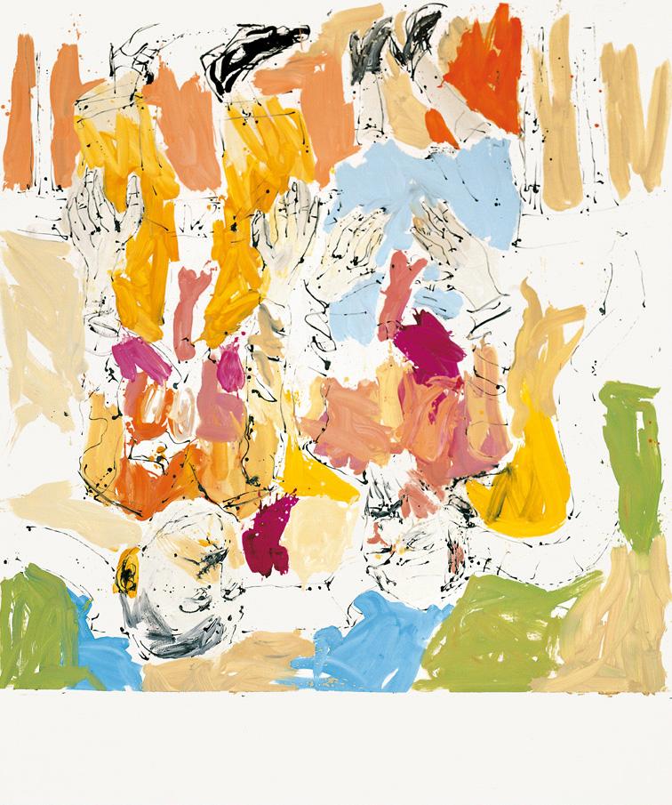 Eguzkia eta ilargia hartzen Jeff eta Damien-ean | Georg Baselitz | Guggenheim Bilbao Museoa