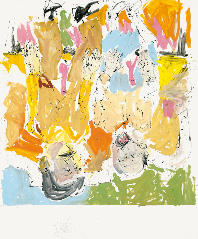 Lucian and Frank en plein air | Georg Baselitz | Guggenheim Bilbao Museoa