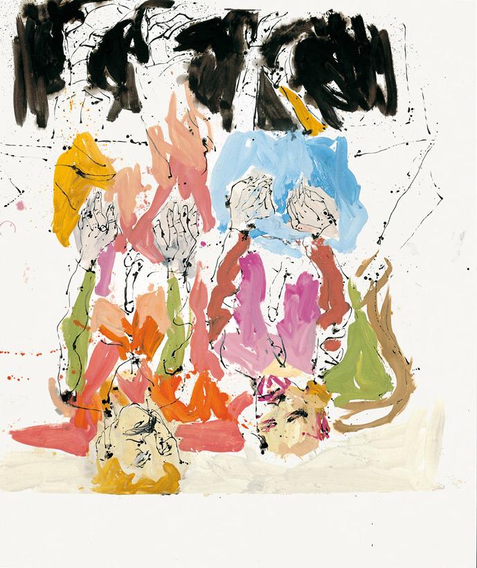 Moskuko Hirugarren Internazionalaren Biltzar ahaztua 1920an, irudiaren eskuinaldean Ralf, haren ondoan Jörg | Georg Baselitz | Guggenheim Bilbao Museoa