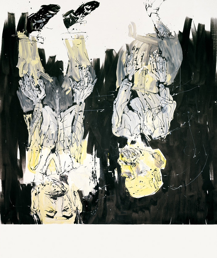 Tracey looks behind the sofa where she finds his drawing, or rather, what Bob had left of it | Georg Baselitz | Guggenheim Bilbao Museoa