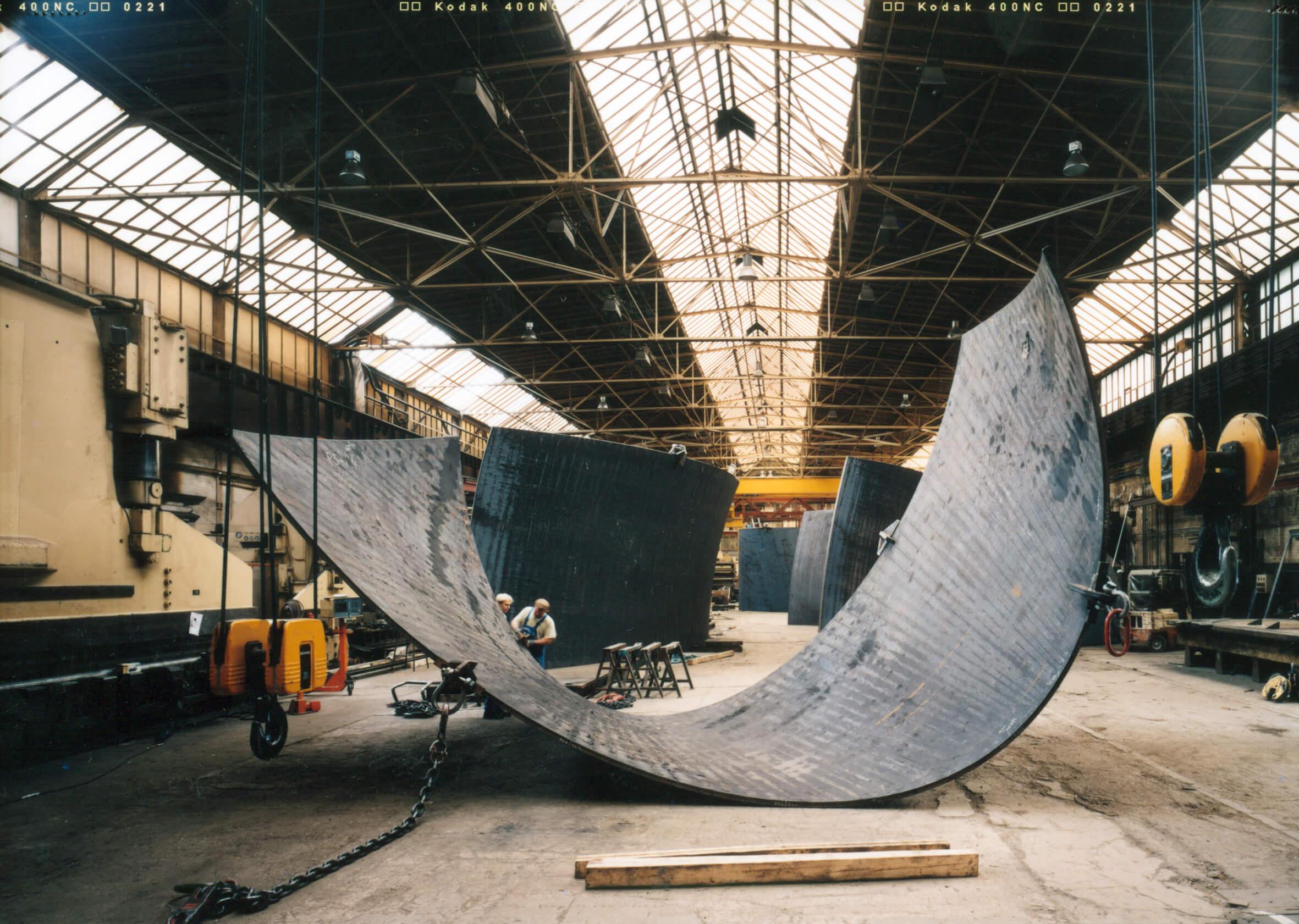 Creación piezas | La materia del tiempo | Guggenheim Bilbao Museoa