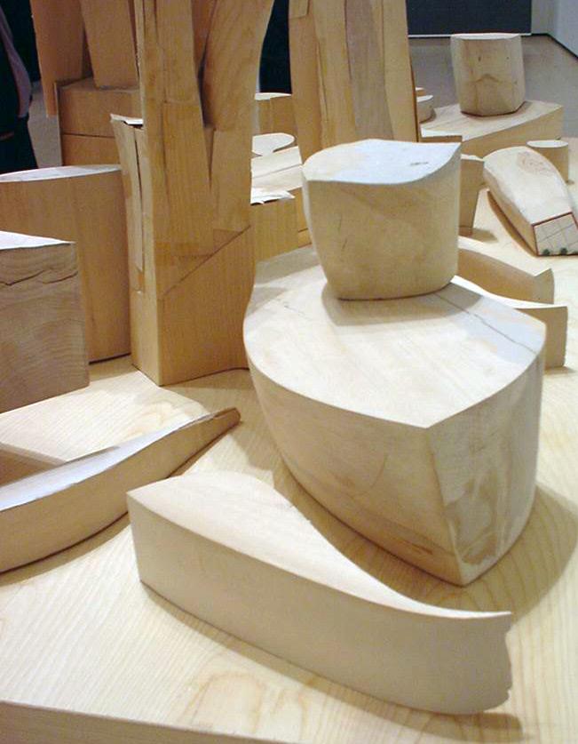 Frank Gehry-k egindako egurrezko maketa | Guggenheim Bilbao Museoa