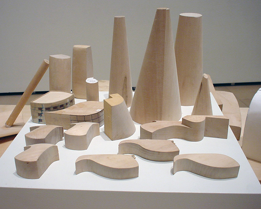 Wooden blocks model by Frank Gehry | Guggenheim Bilbao Museoa