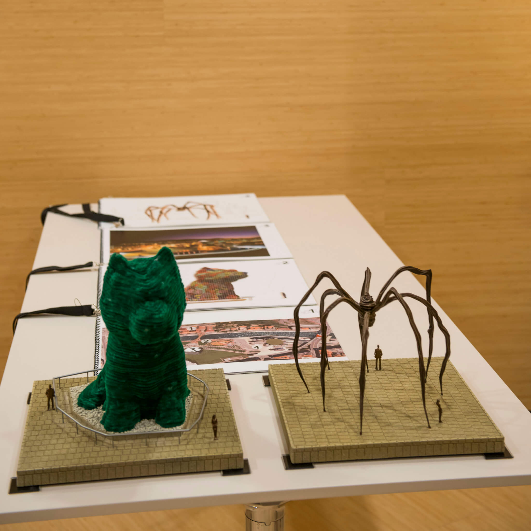 Maquetas de Puppy y Mamá | Guggenheim Bilbao Museoa
