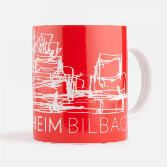 Taza roja de cerámica | Productos Guggenheim Bilbao Museoa