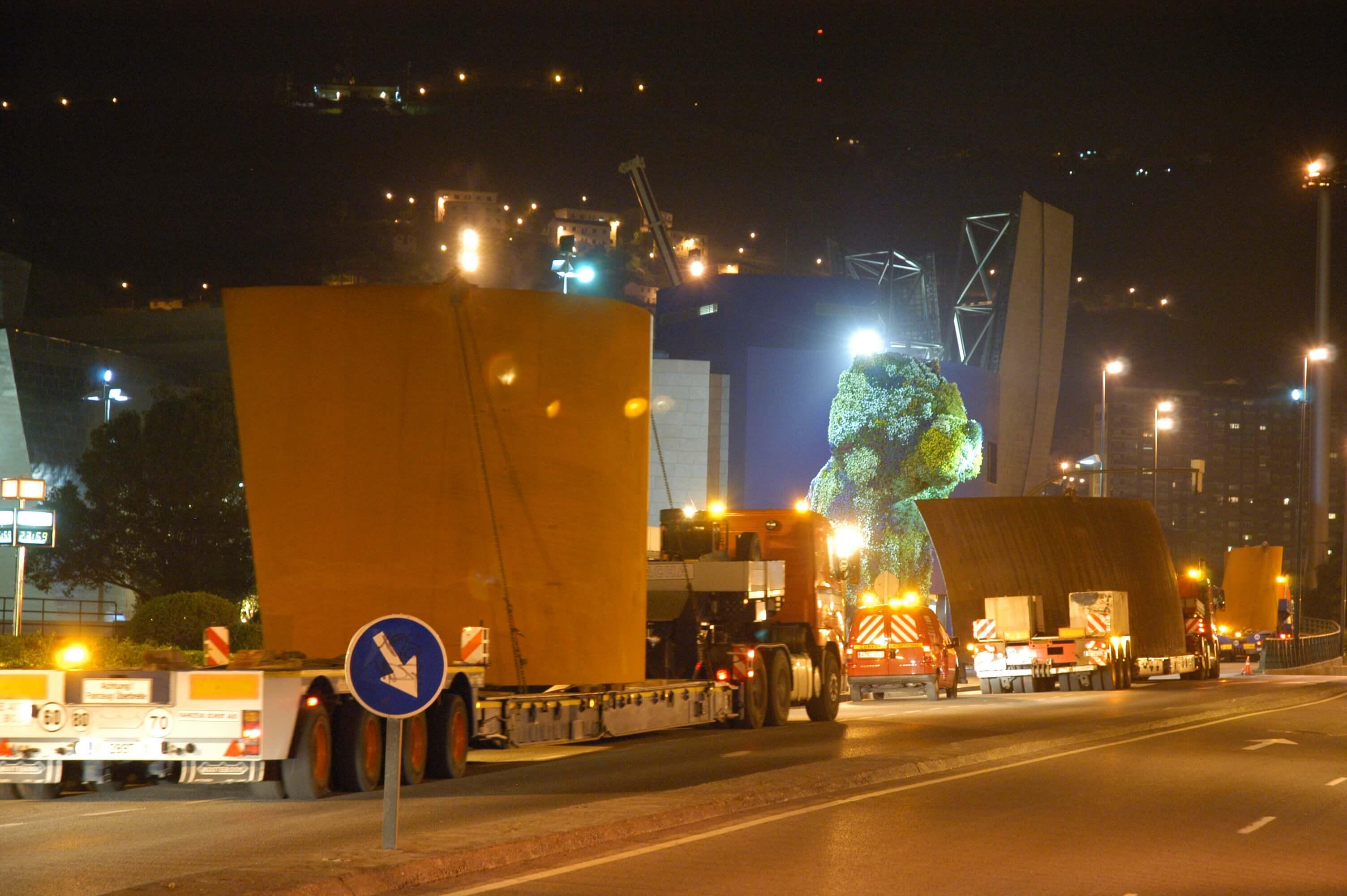 Transporte de las piezas al Museo | La materia del tiempo | Guggenheim Bilbao Museoa