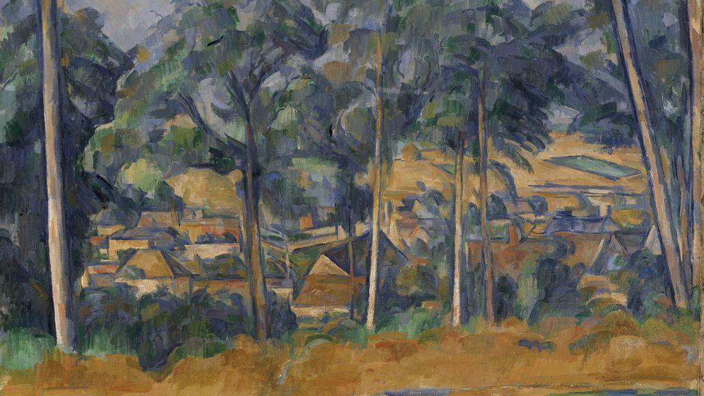 Pueblo entre árboles