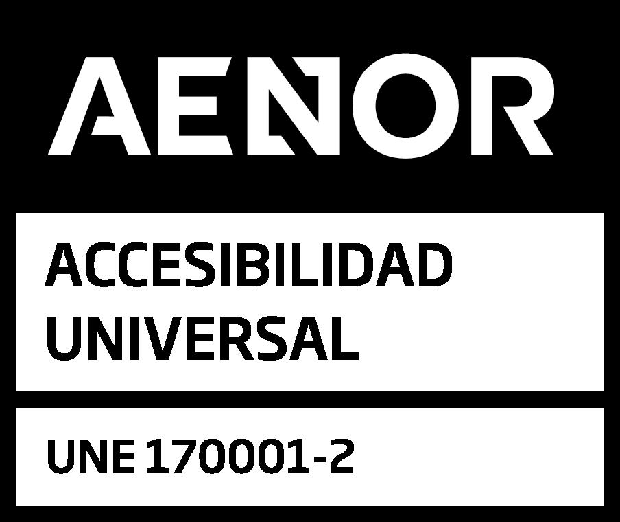 Sello AENOR accesibilidad universal une170001 2 POS