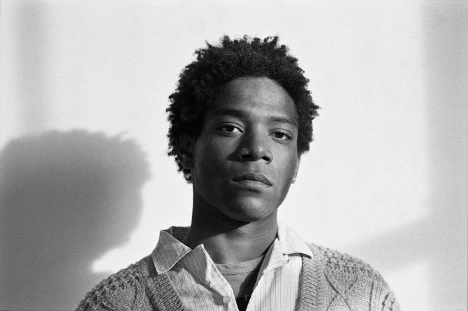 Jean Michel Basquiat blackandwhite 1984