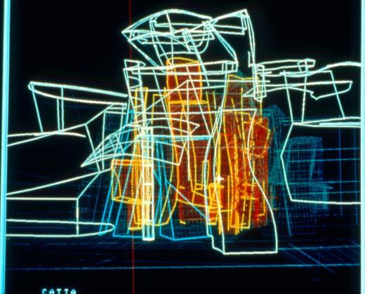 Plan numérique du bâtiment du Musée Guggenheim Bilbao réalisé avec le logiciel CATIA