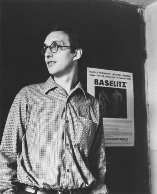 georg baselitz in his studio Berlin 1966