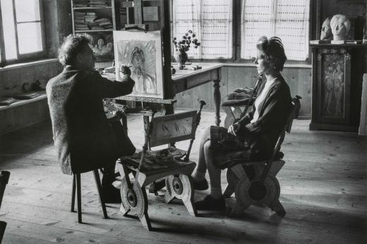 giacometti painting portrait of annette