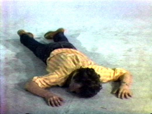 Tony Sinking into the Floor, Face Up, and Face Down