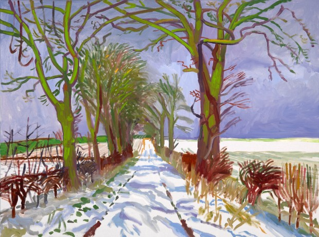 Winter Tunnel with Snow, March,