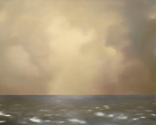 Seascape (with Olive Clouds)