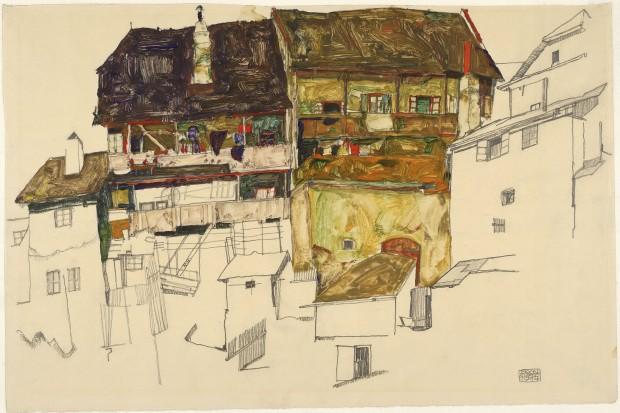 Old houses in Krumau,