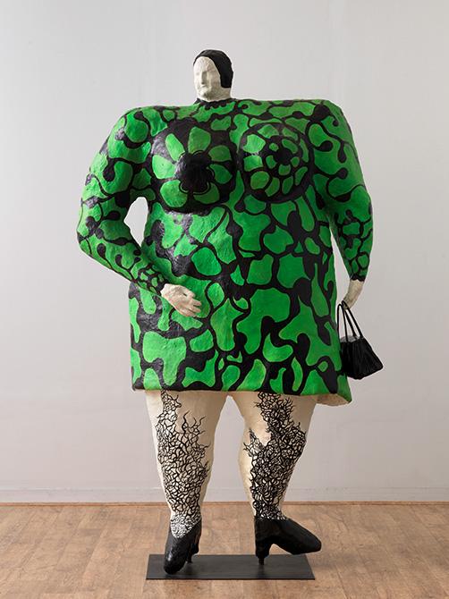 Señora o Nana verde con bolso negroNiki-De-Saint-Phalle-Madame-ou-Nana-Verte-au-Sac-Noir-1968