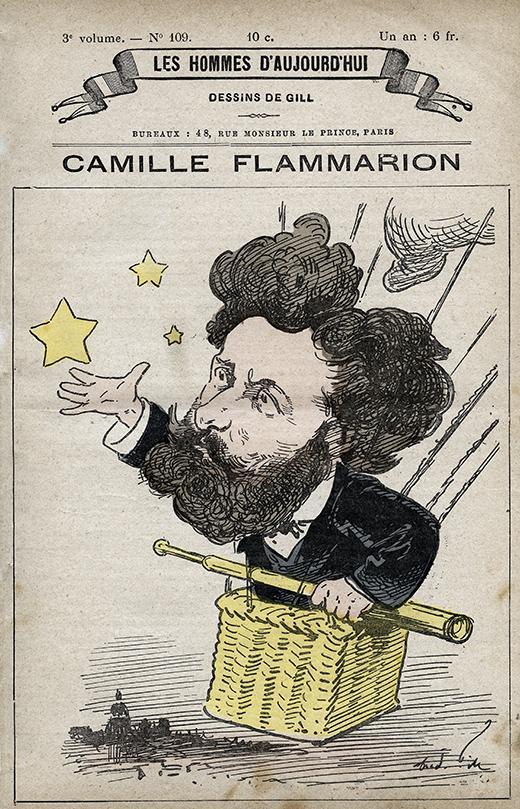 caricatura-camille-flammarion