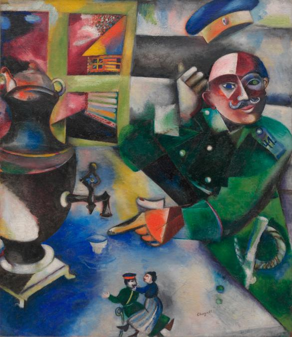 march chagall the soldier drinks