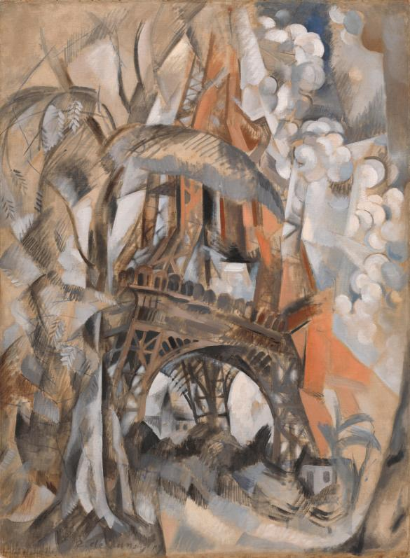 robert delaunay eiffel tower with trees